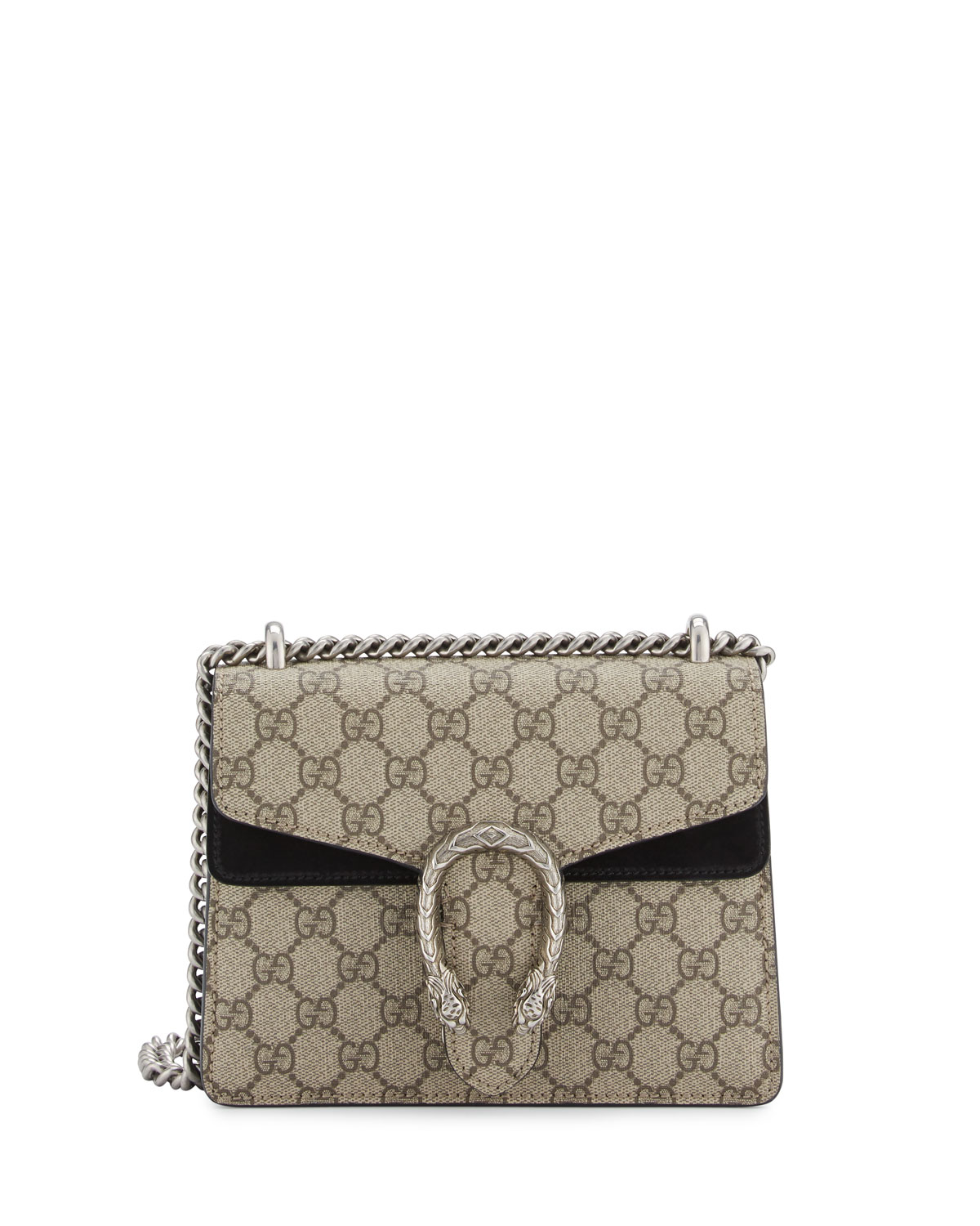 1e2a369876eec2 Gucci Dionysus GG Supreme Mini Shoulder Bag, Beige/Black | Neiman Marcus