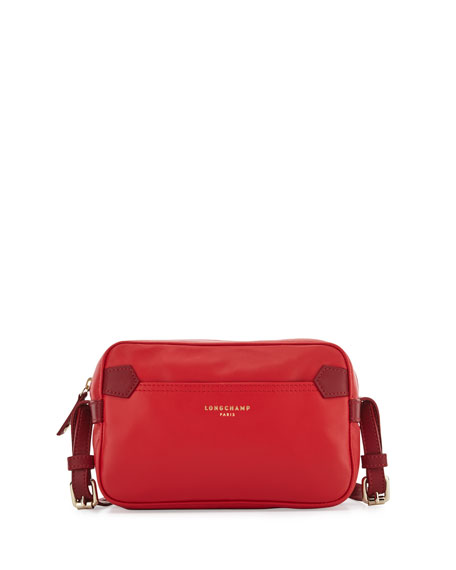 Longchamp 2 0 Leather Crossbody Bag Poppy Red