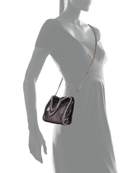 Stella McCartney Falabella Tiny Shoulder Bag, Dark Gray