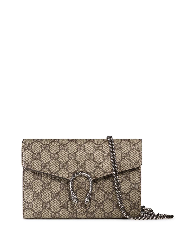 d740ac9bd5a Gucci Dionysus GG Supreme Mini Chain Bag
