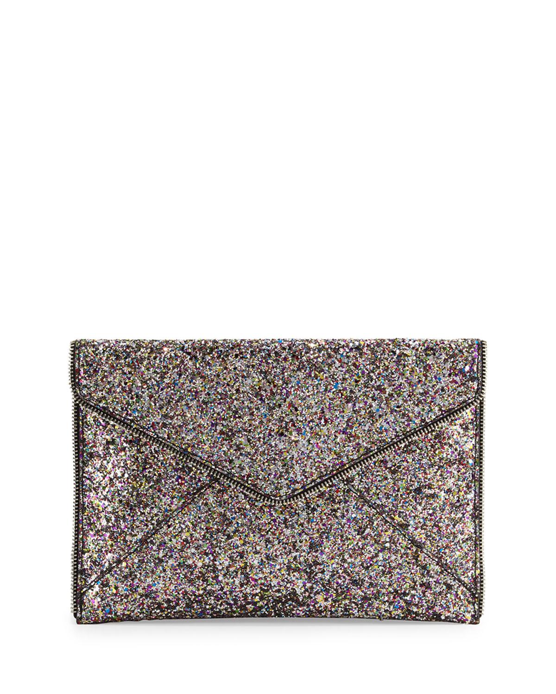 b5e9f83a64 Quick Look. Rebecca Minkoff · Leo Glitter Envelope Clutch Bag, Silver/Multi