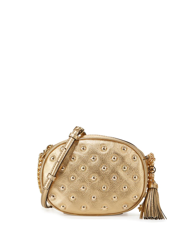 70214a89165b MICHAEL Michael Kors Ginny Medium Studded Messenger Bag | Neiman Marcus