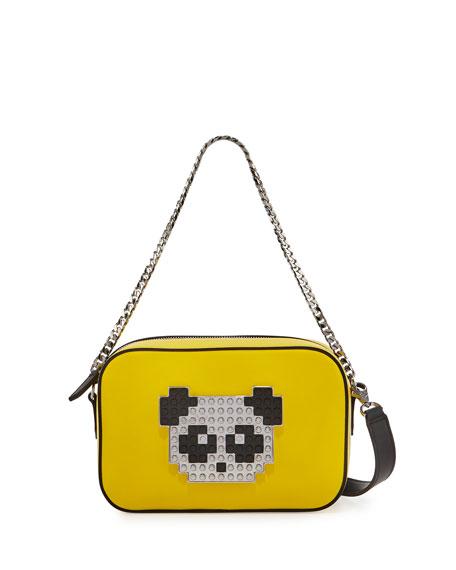 Les Petits Joueurs Roy Metal Panda Crossbody Bag,