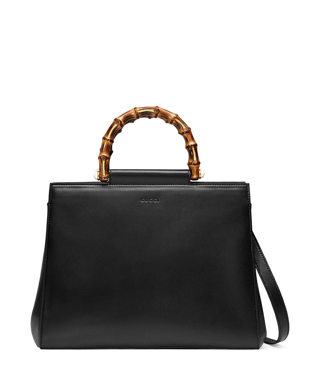 4367abde067b Gucci Nymphea Medium Bamboo-Handle Tote Bag   Neiman Marcus