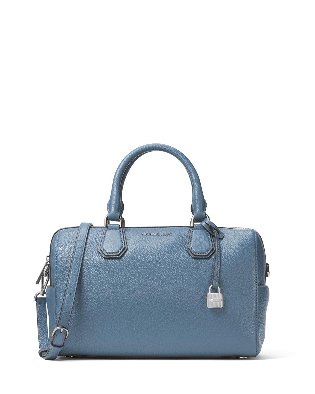 MICHAEL Michael Kors Mercer Medium Leather Duffel Bag   Neiman Marcus 3698b43287