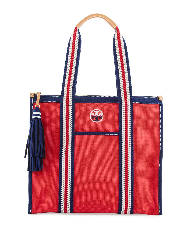 Preppy Canvas Tote Bag