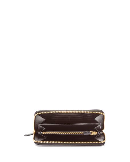 Prada Printed Zip-Around Wallet