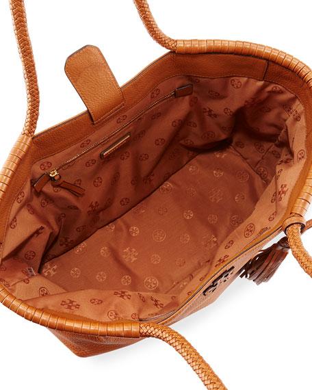 Taylor Braided-Handle Tote Bag