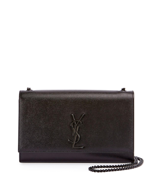 a6ad151e1ba Saint Laurent Monogram YSL Kate Medium Chain Bag, Black   Neiman Marcus