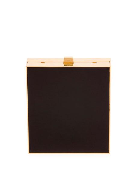 Saint Laurent Tuxedo Box Minaudiere, Black/Gold