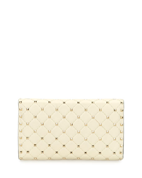 Quilted Rockstud Spike Chain Shoulder Bag