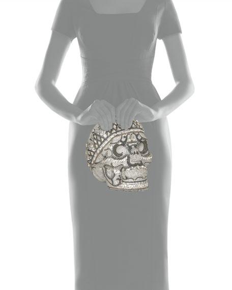 Image 3 of 3: Katerina Crystal Skull Clutch Bag