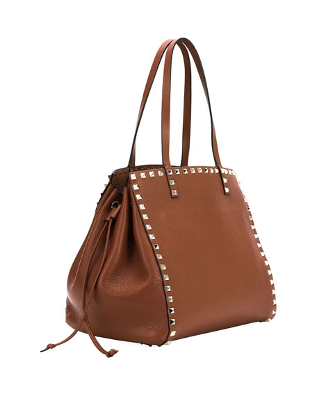 Rockstud Double Handle Tote Bag