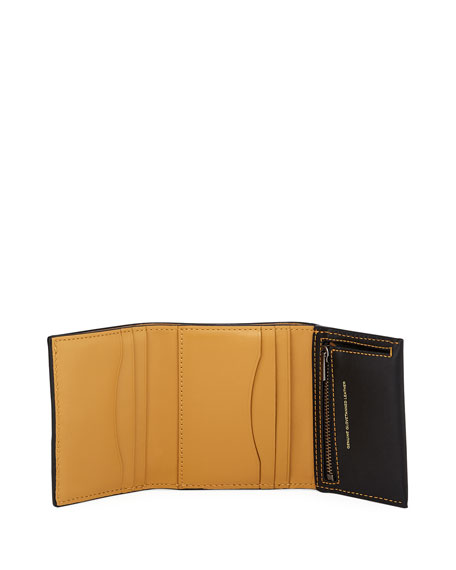Trifold Leather Snap Wallet