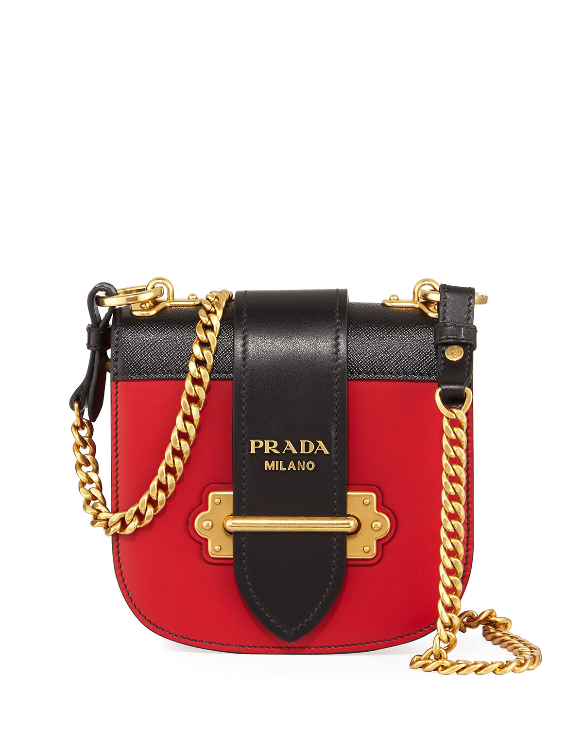 8cab0c64675f36 Prada Mini Leather Crossbody Bag | Neiman Marcus