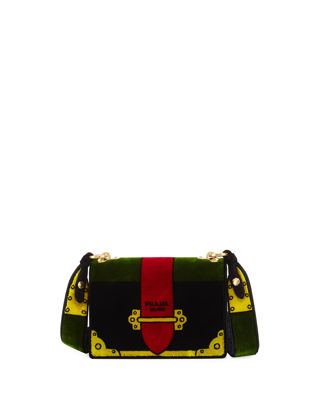 38706383307e Prada Trompe L'oeil Velvet Cahier Bag | Neiman Marcus
