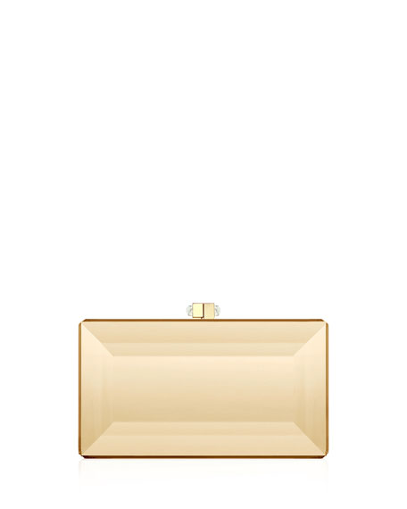 Image 1 of 1: Reflection Coffered Box Clutch Bag