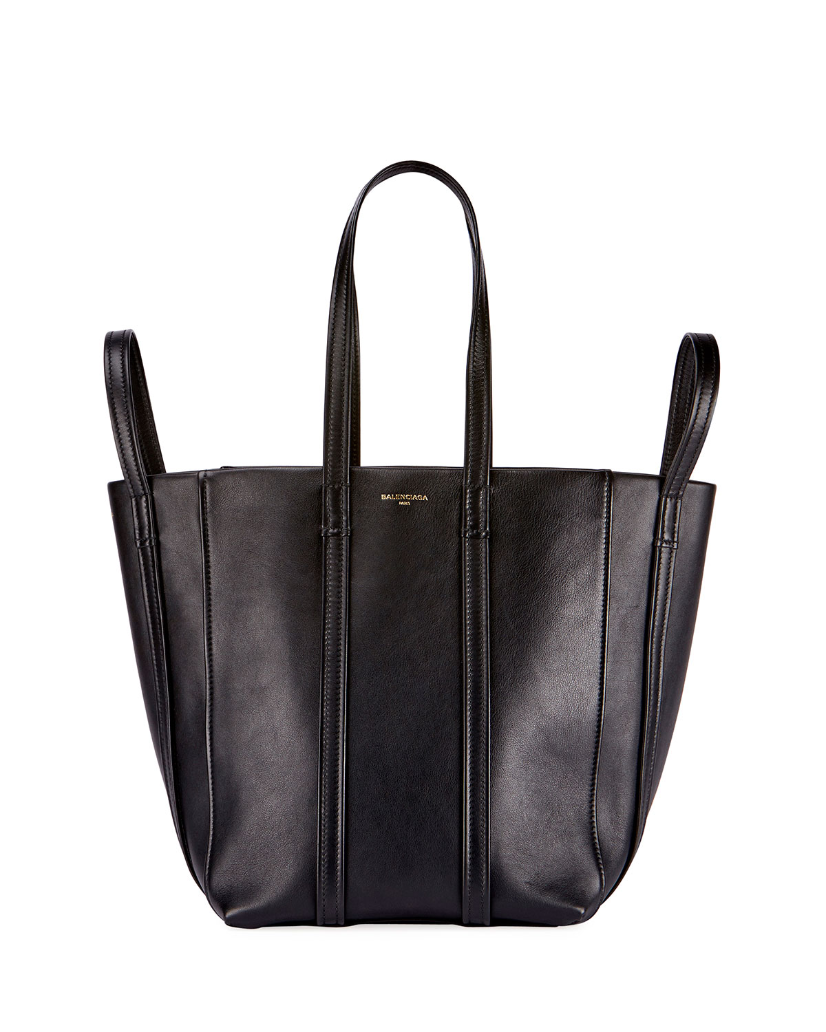 1a89190a07f5 Balenciaga Laundry Cabas 4-Strap Leather Extra Large Tote Bag ...