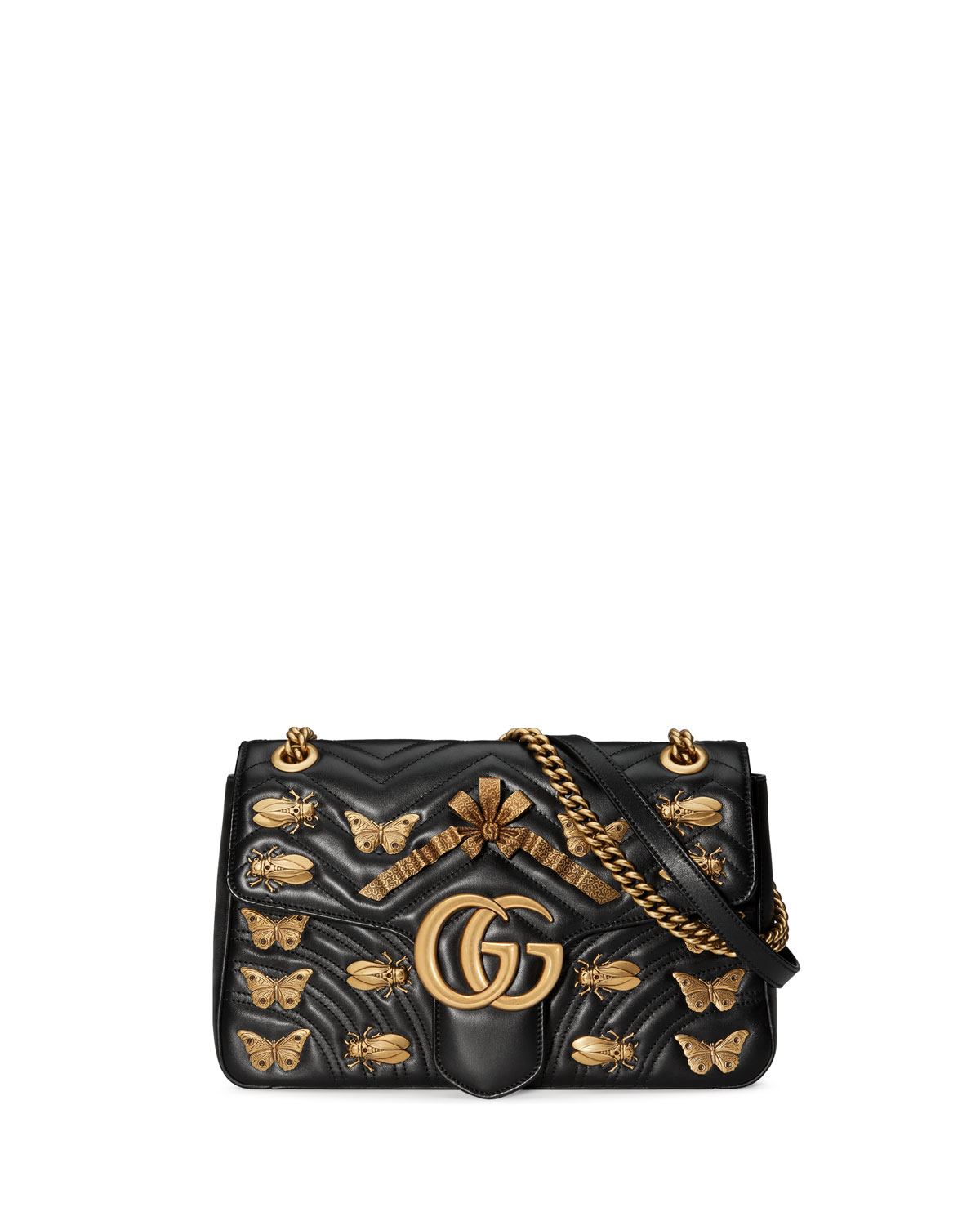 6346ffbaa16 Gucci GG Marmont Medium Insect Shoulder Bag
