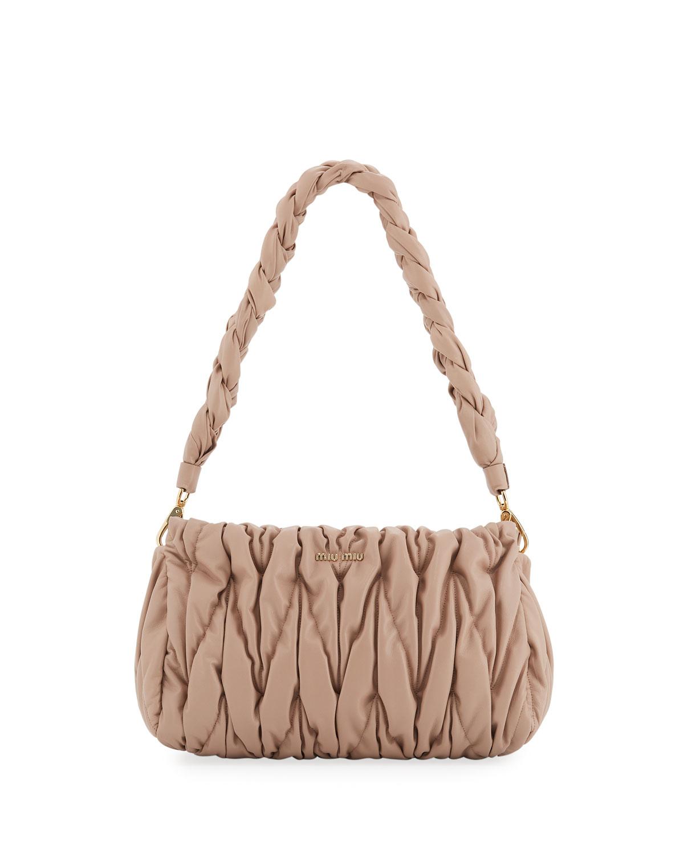 Miu Miu Matelasse Leather Tote Bag  ec5485990e0a7