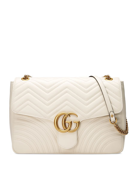eaab7306027d Gucci GG Marmont Large Chevron Quilted Leather Shoulder