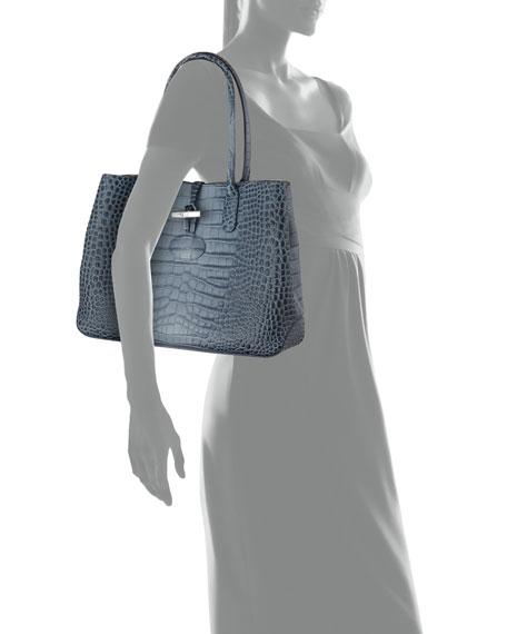 Roseau Leather Shoulder Tote Bag