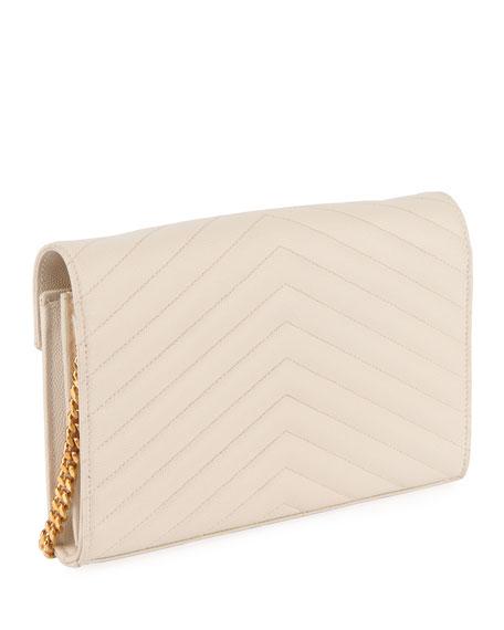 Matelasse Monogram YSL Wallet on Chain