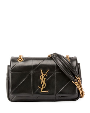6a393a57fc Saint Laurent Jamie Monogram YSL Small Diamond-Quilted Chain Shoulder Bag