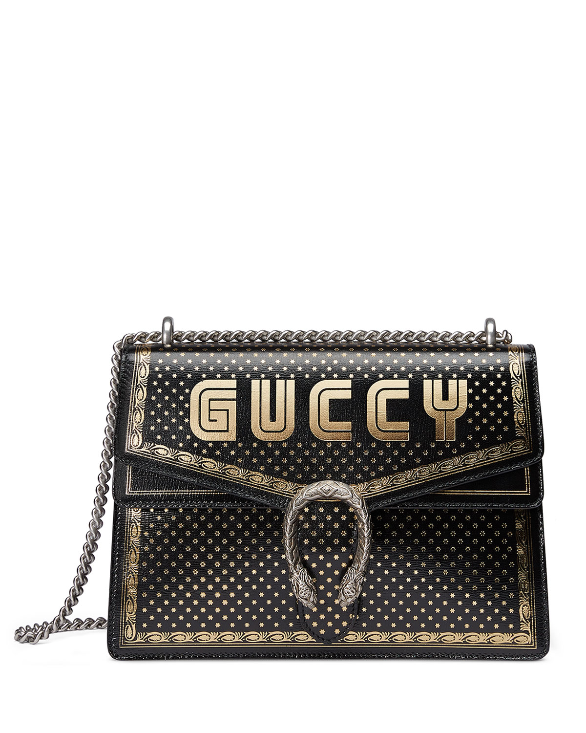6001896913fac4 Gucci Dionysus GUCCY Medium Leather Shoulder Bag | Neiman Marcus
