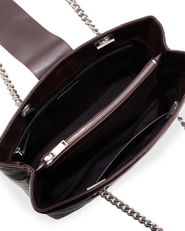 edd369a1b16 Saint Laurent Loulou Monogram YSL Large Quilted Shoulder Tote Bag - Nickel  Oxide Hardware | Neiman Marcus