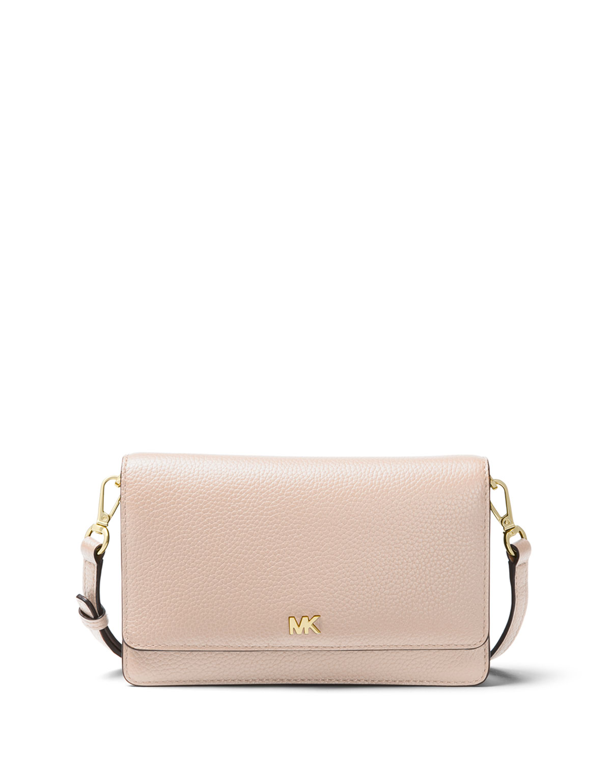 be2abf00fd4b MICHAEL Michael Kors Leather Phone Crossbody Wallet | Neiman Marcus