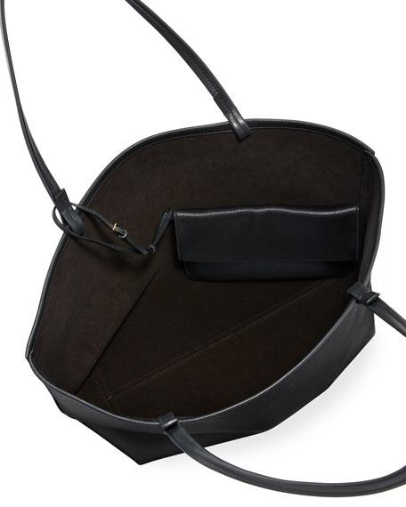 Park Lux Grained Leather Shopper Tote Bag