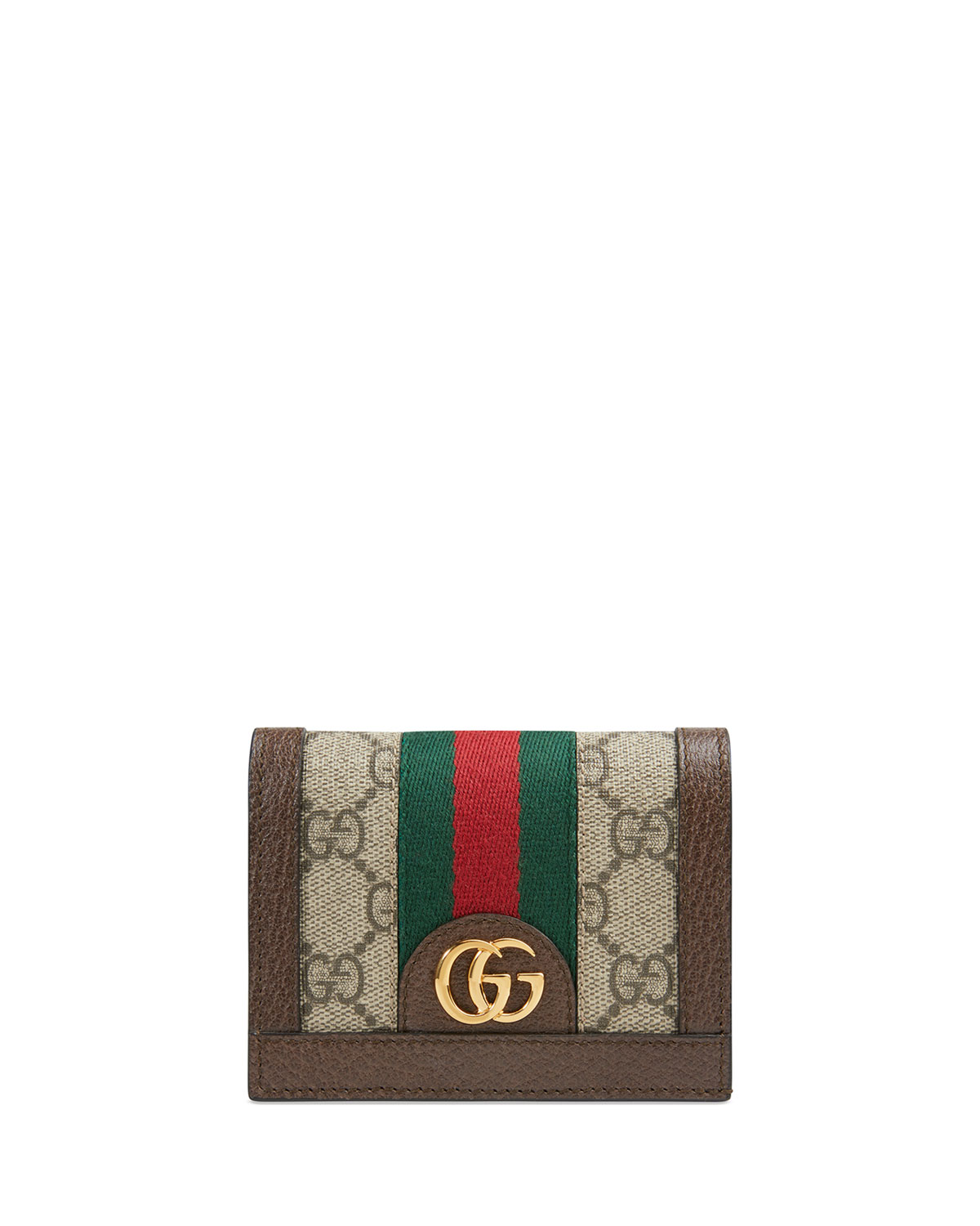 1a4787ef44cd Gucci Ophidia GG Supreme Flap Card Case | Neiman Marcus
