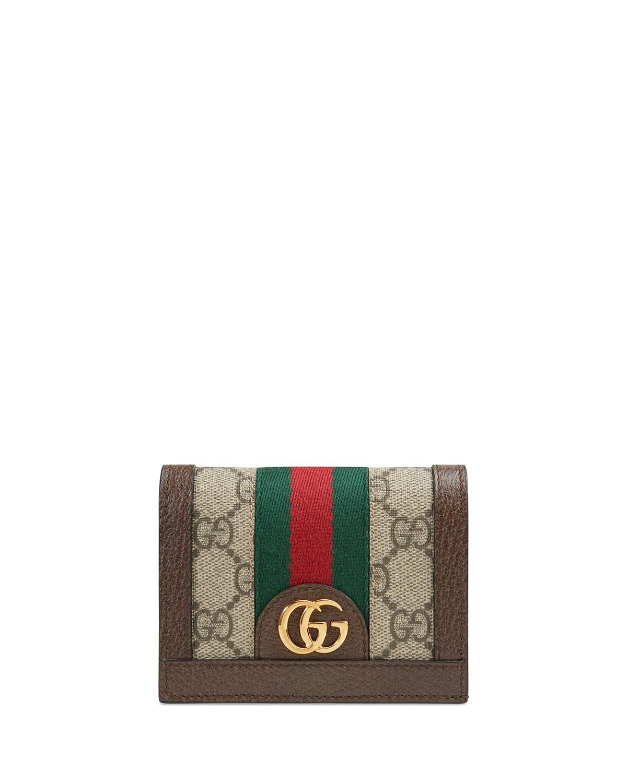 buy popular 04375 6d6b7 Ophidia GG Supreme Flap Card Case