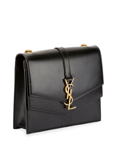a0acc9e524c3 Image 2 of 4  Sulpice Medium YSL Monogram Leather Triple V-Flap Crossbody  Bag