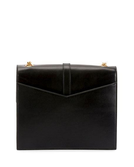 b0c0f7d9d7b7 Image 3 of 4  Sulpice Medium YSL Monogram Leather Triple V-Flap Crossbody  Bag