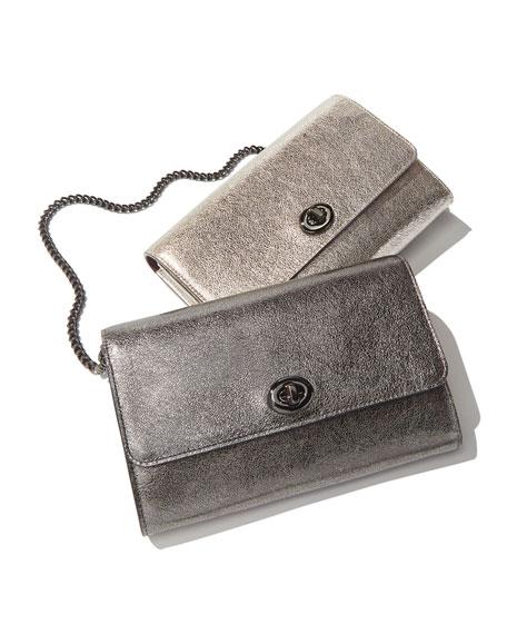 Coach 1941 Metallic Leather Turn-Lock Crossbody Bag