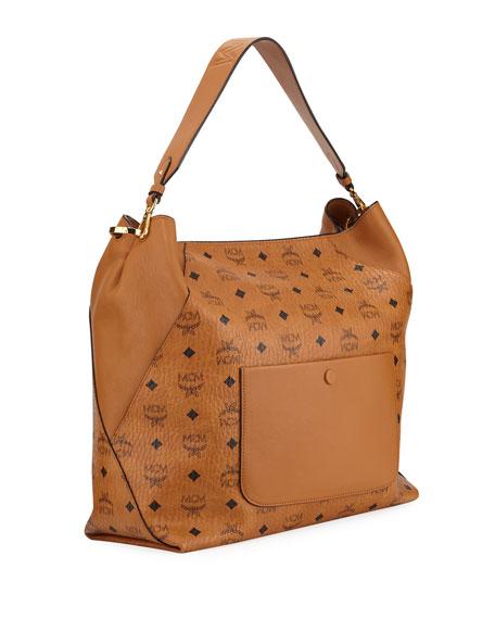MCM Klara Visetos Large Hobo Bag