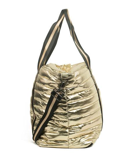 Think Royln Wingman Metallic Quilted Tote Bag