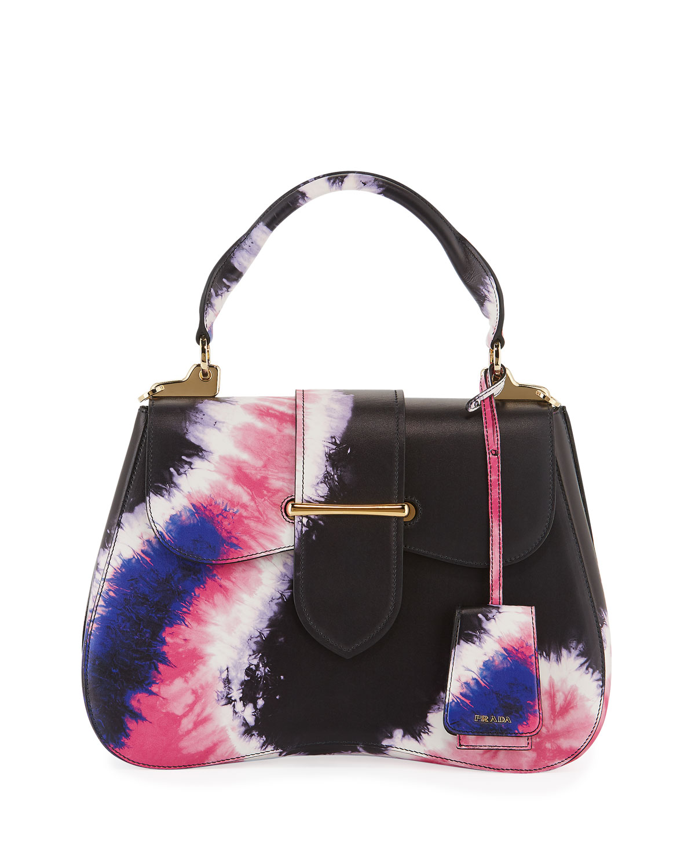 c89c8ce679 Prada Tie-Dye Prada Sidonie Top-Handle Tote Bag | Neiman Marcus