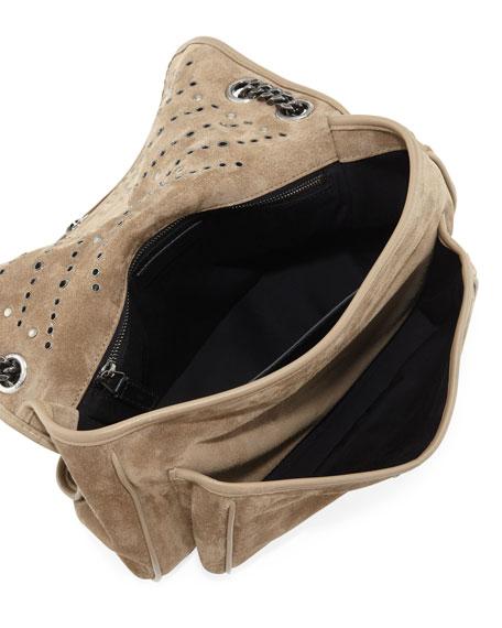 Saint Laurent Niki Monogram YSL Medium Suede Shoulder Bag