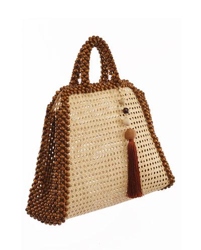Schultz Beaded Top Handle Bag