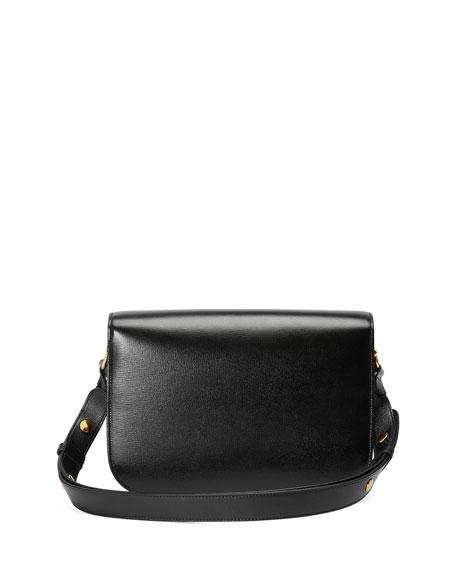 Gucci 1955 Horsebit Small Textured Leather Shoulder Bag