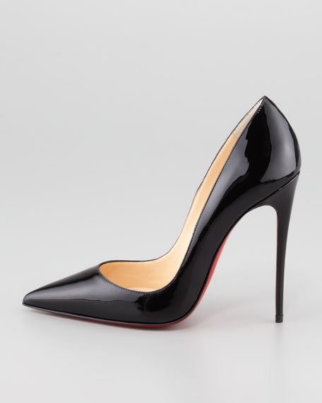 replica sneakers christian louboutin - Christian Louboutin So Kate Patent Leather Point-Toe Pump, Black
