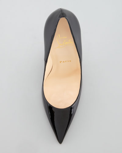 christian louboutin So Kate pointed-toe pumps Black leather ...