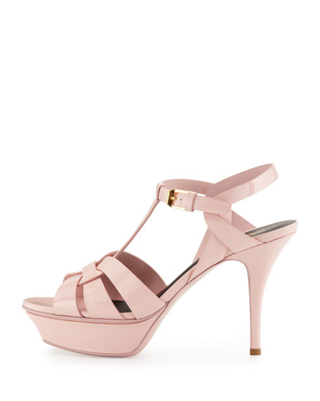 Tribute Patent 75mm Sandal, Pale Blush