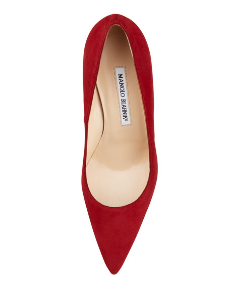 BB Suede 90mm Pump, Ruby
