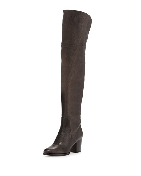 Jimmy Choo Mercer Metallic Over-the-Knee Boot, Mocha