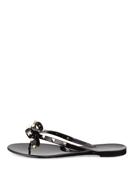 Rockstud PVC Thong Sandal