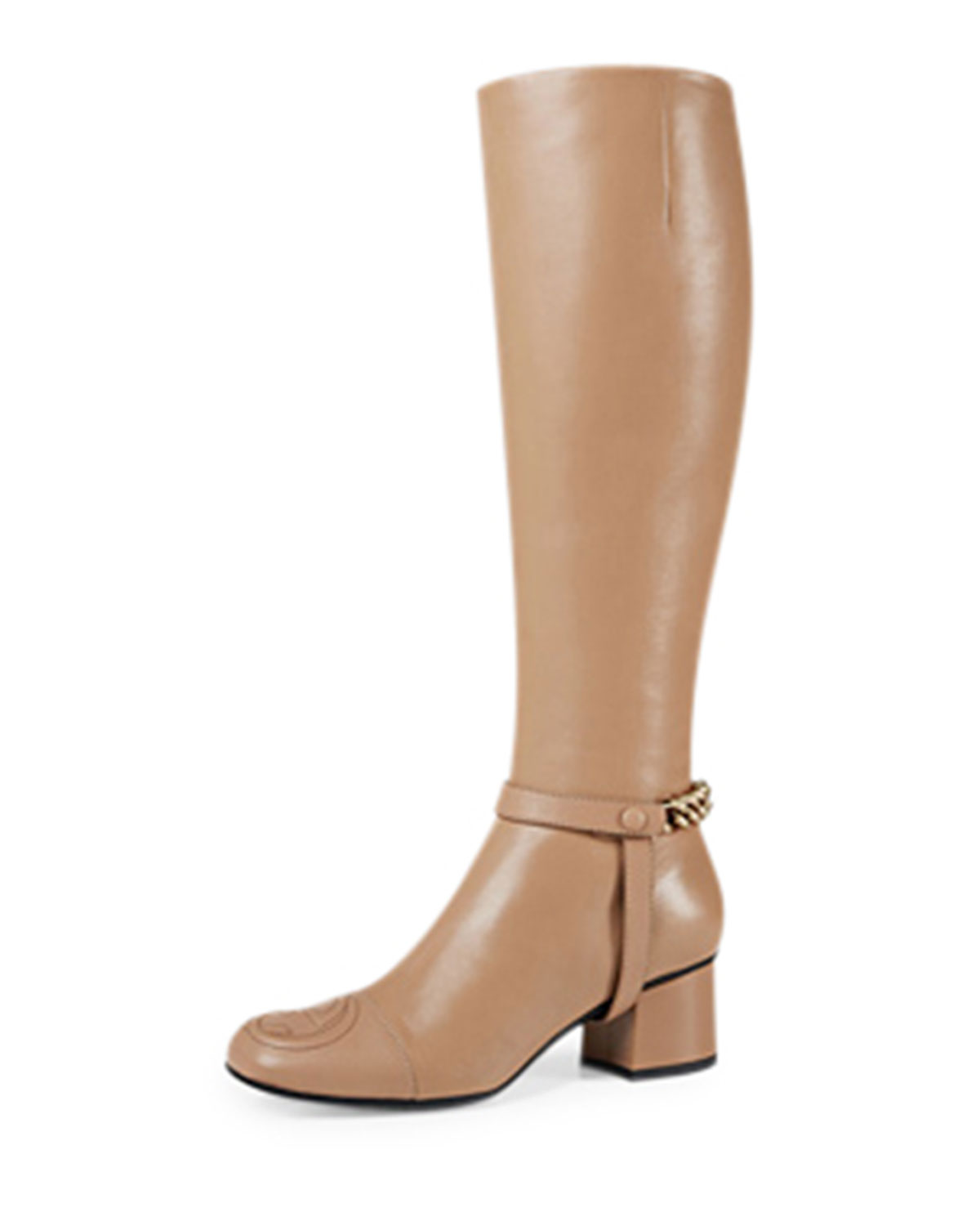79c611718eb1 Gucci Soho Chained Leather Knee Boot
